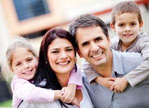 crédito nuevo familia feliz